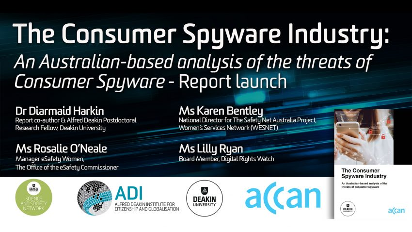 Consumer Spyware Industry report launch, 22 August 2019